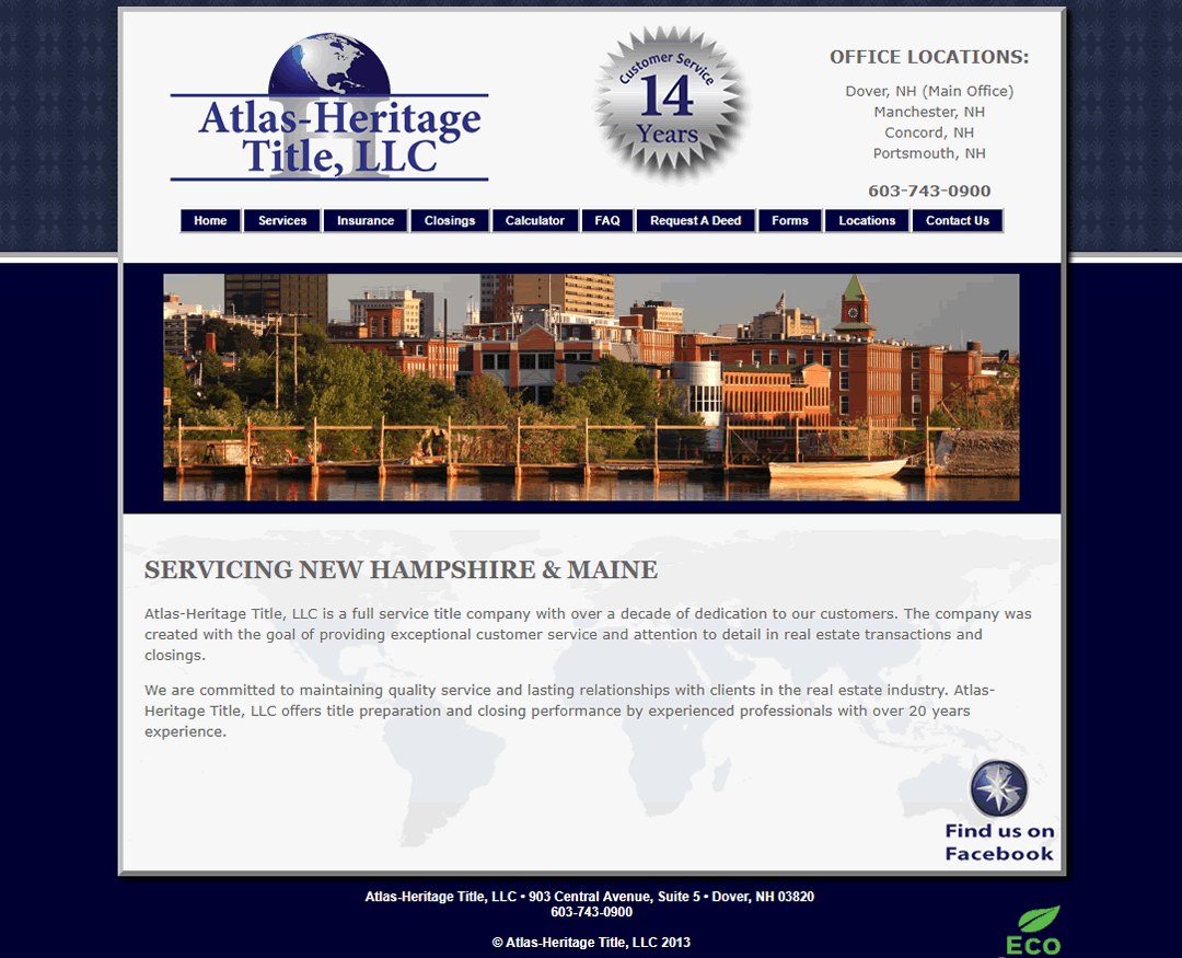 Web Design Atlas Heritage Title Dover NH