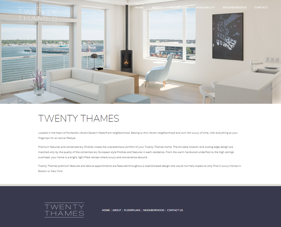 Web Design Twenty Thames Portland Maine